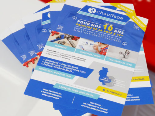 CREATION DE FLYERS | RCHAUFFAGE